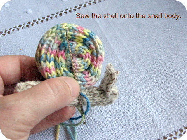 Knitted Snail Pattern Tutorial - Natural Suburbia