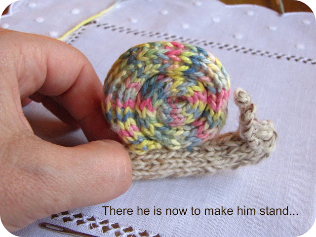 Knitting Pattern For Toy Snail : Knitted Snail Pattern Tutorial - Natural Suburbia