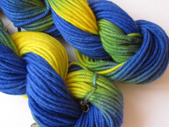 Rainbow Aran Merino Hand Painted Yarn 3.5 ounces / 100 grams