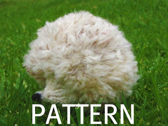 Snowdrop the White Hedgehog, Knitting Pattern