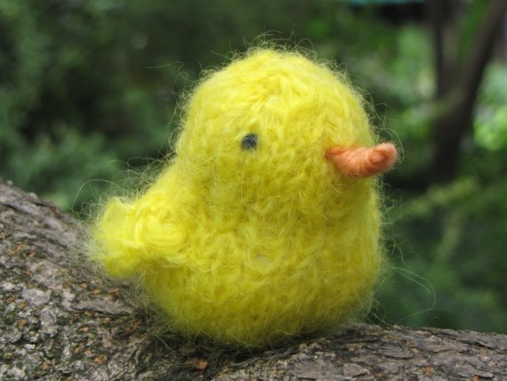Easter Chicken. Soft Mohair Yarn