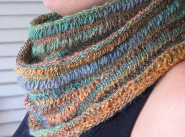 Knitted Drop Stitch Cowl Pattern : Rustic Earth Cowl Pattern and Drop Stitch Tutorial