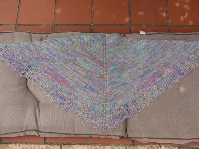 Oaklet Shawl Blocking