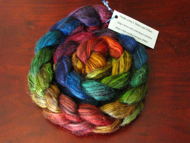 Llama Silk Roving