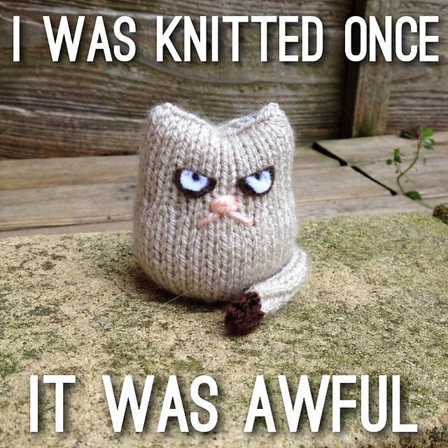 Christmas Knitting Memes : Grumpy cat knitting project natural suburbia