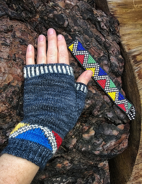 Thandi African Fingerless Gloves Sally Cameron