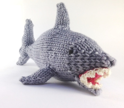 Finn the Shark Test Knit - Natural Suburbia